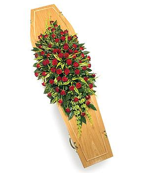 Classic Rose coffin spray   fr 175.00