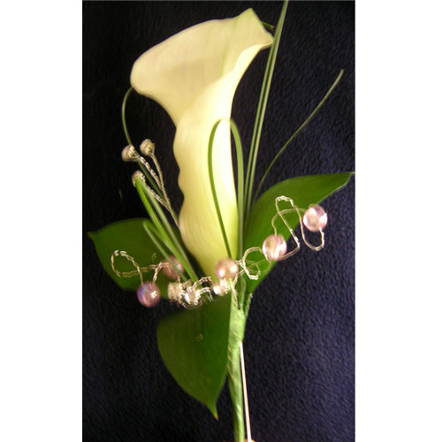 Single Crystal blush calla for a lady