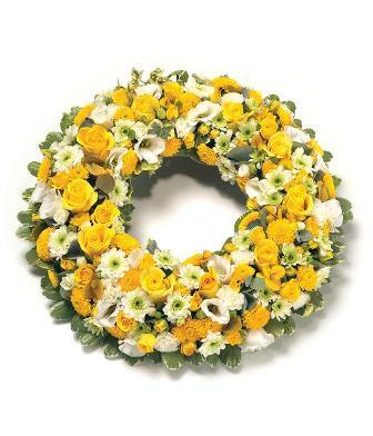 Sunshine wreath from 100.00